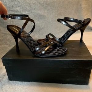 BCBGMAXAZRIA Jota Black Sandals Heels Size 6.5